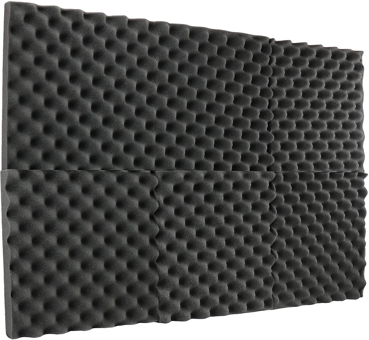 New Level 6 Pack Acoustic Panels Studio Foam Egg Crate 2 X 12 X 12