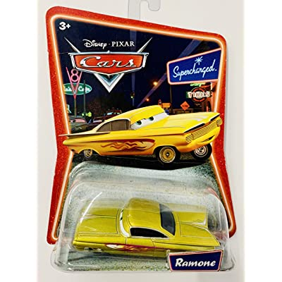 Yellow (Gold) Ramone Disney Cars Movie 1:55 Scale Supercharged Edition Mattel: Toys & Games