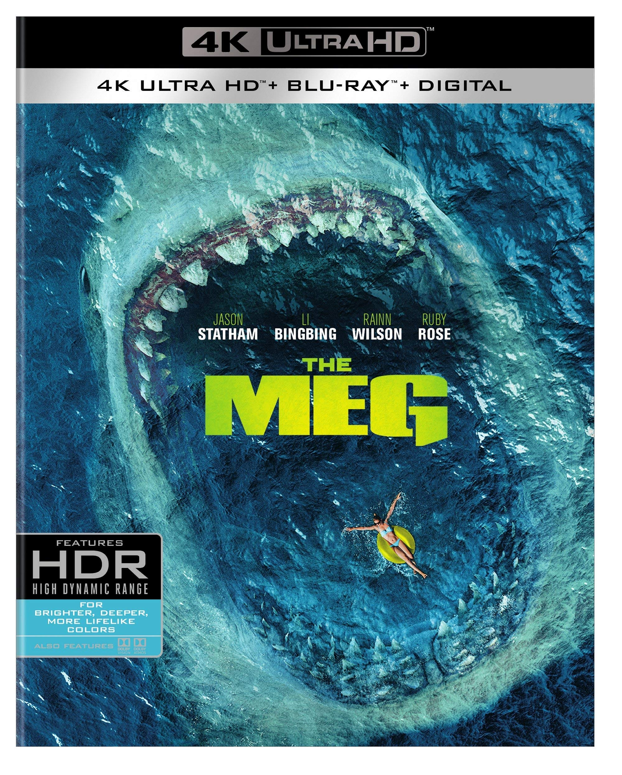 4K Blu-ray : The Meg (With Blu-ray, 4K Mastering, Ultraviolet Digital Copy, 2 Pack)