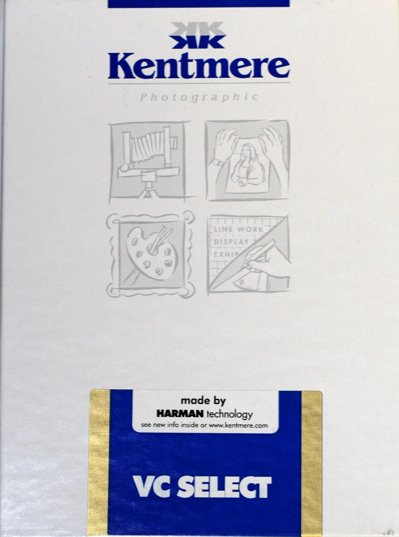 Kentmere VC Select, Variable Contrast Medium Weight RC Fine Lustre Paper, 8x10'', 100 Sheets