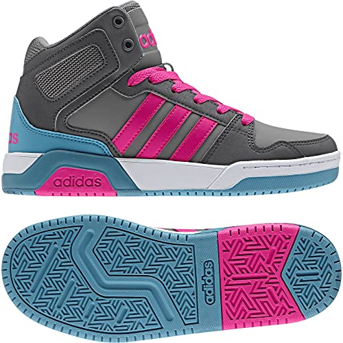 adidas Girls Bb9tis Mid Trainers US5.5 Grey