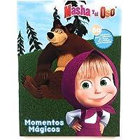 Masha y el Oso Libo para Colorear 80 páginas. Incluye personajes como Masha, el Oso, Osa, Panda, Conejo y muchos más! Estimular Motricidad Fina. Entretenimiento y Aprendizaje. Kids Coloring Booklet, Masha and the Bear Coloring Book.