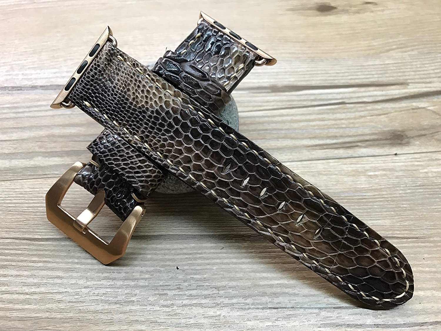 Apple Watch Band | Apple Watch Strap | Brown Hawk leg skin leather watch Strap For Apple Watch 38mm & Apple Watch 42mm - Series 1 and 2
