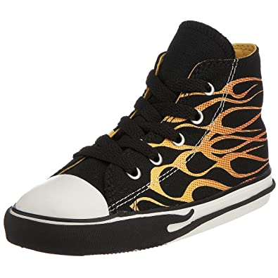 d907bfca1b16d Converse Chuck Taylor All Star Junior Flamme Impression Hi Lacets .