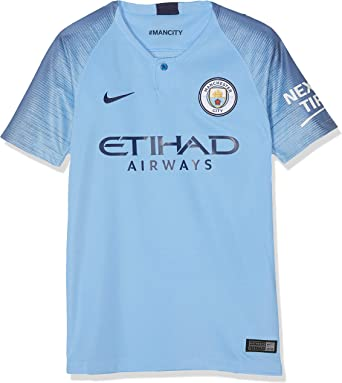 Amazon Com Nike 2018 2019 Man City Home Football Soccer T Shirt Jersey Kids Clothing