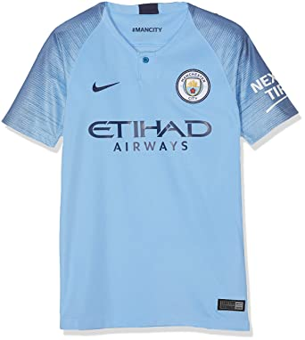 8fb8a273b Amazon.com: Nike Manchester City 2018-2019 Home Shirt (Kids) Soccer ...