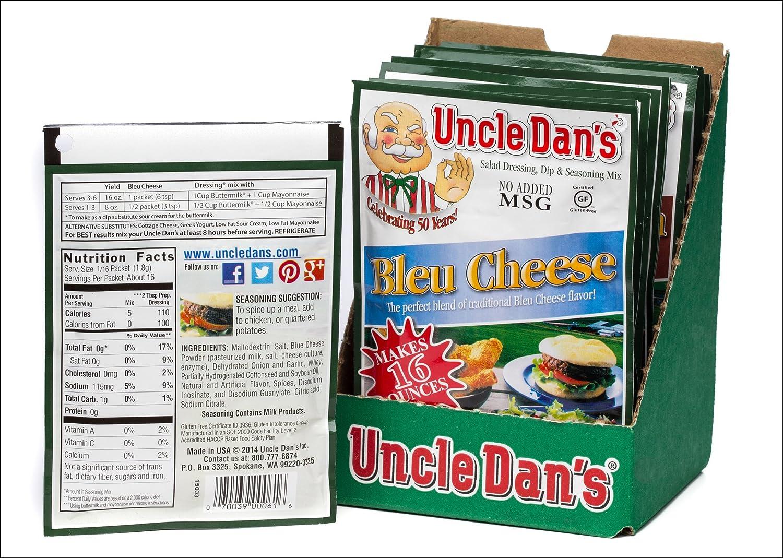 Amazon Com Uncle Dan S Bleu Cheese Dressing Dip Seasoning Mix