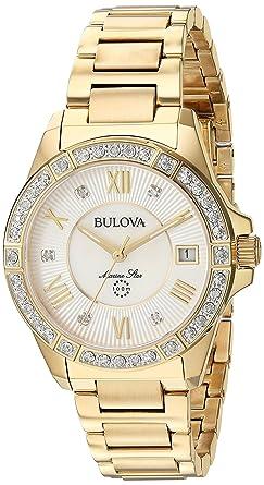 9fe52361795 Amazon.com  Bulova Women s Analog-Quartz Watch with Stainless-Steel ...