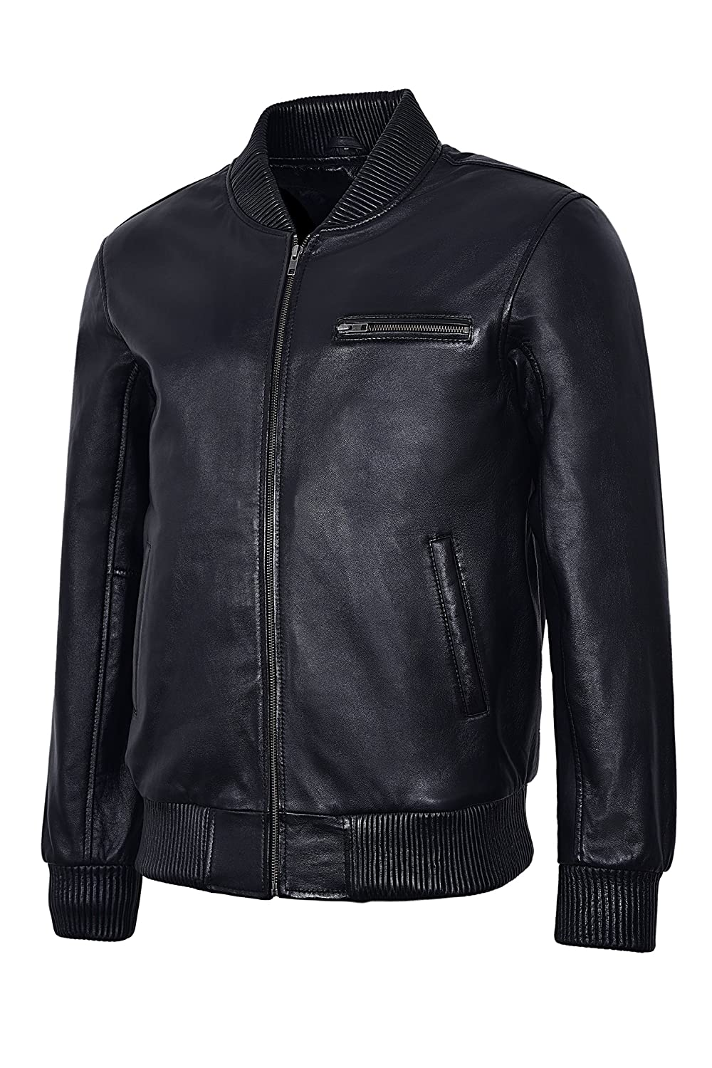 263937982 Smart Range Men's New Bomber 70'S Street Inspired Black Retro ...