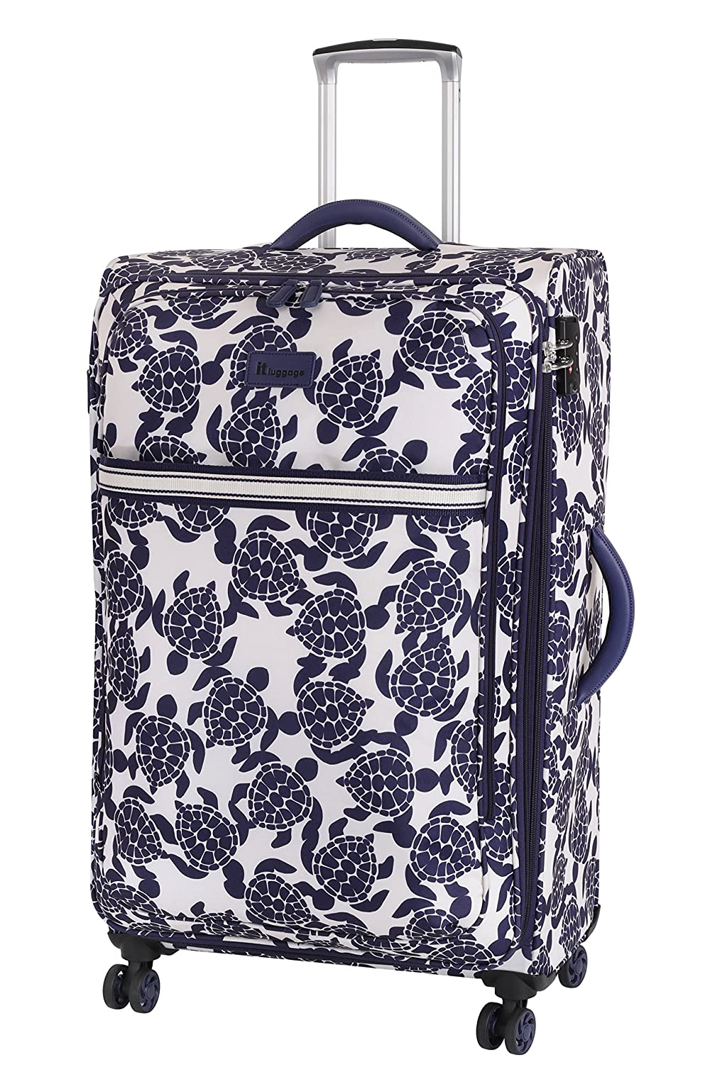 it luggage Nautical Turtles 8 Wheel Lightweight Semi Expander Suitcase Large Maleta, 77 cm, 111 Liters, Multicolor (Navy/Cream Sea Print)