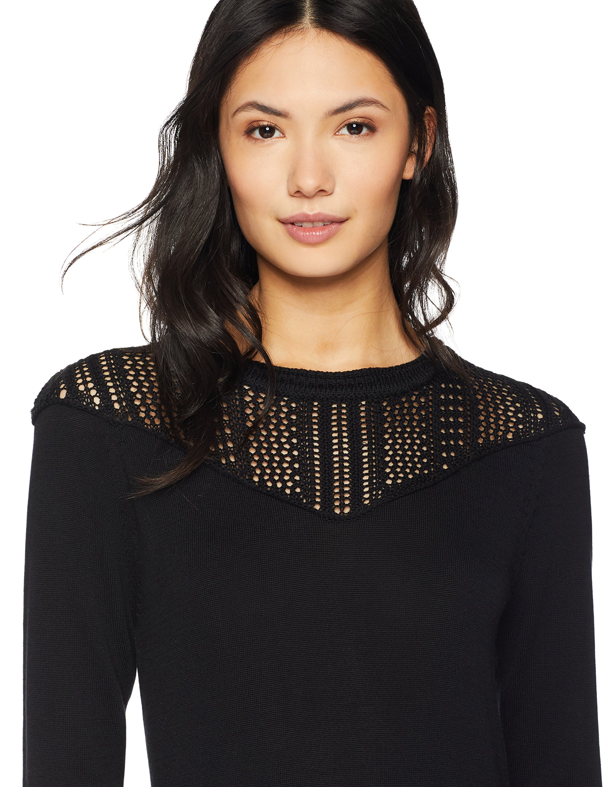 Cable Stitch Women's Pointelle Inset Sweater Black Large by Cable Stitch (Image #4)