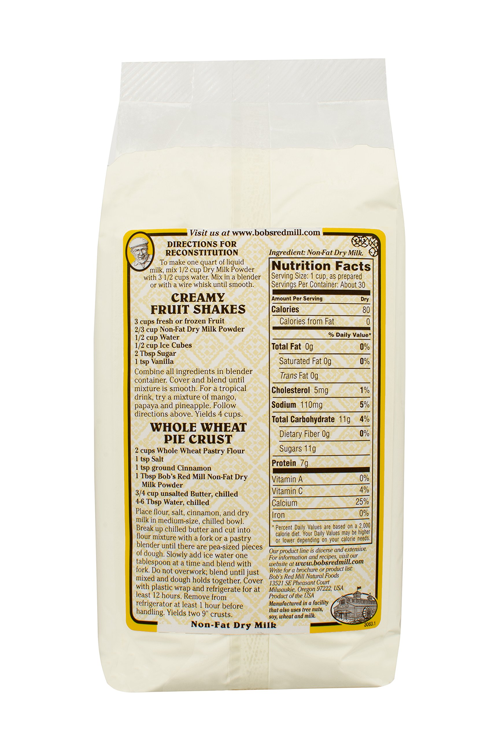 Bob's Red Mill Non Fat Dry Milk Powder, 22 Ounce by Bob's Red Mill (Image #2)