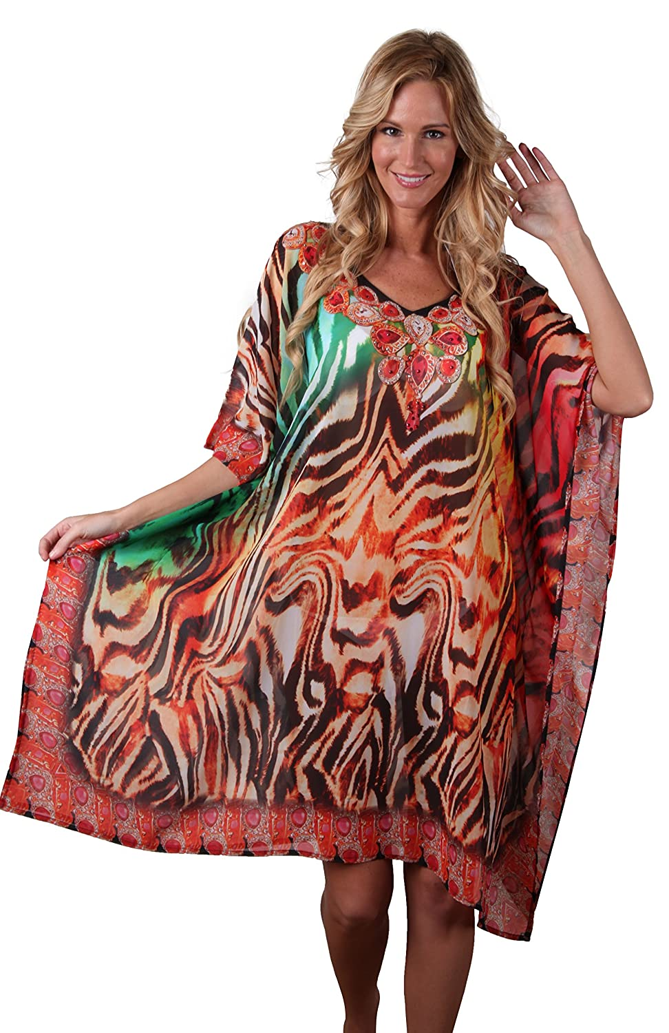 In Gear Women's Ingear Drawstring Tunic Cover Up COL#2) IDG470-2-COL#2-OS