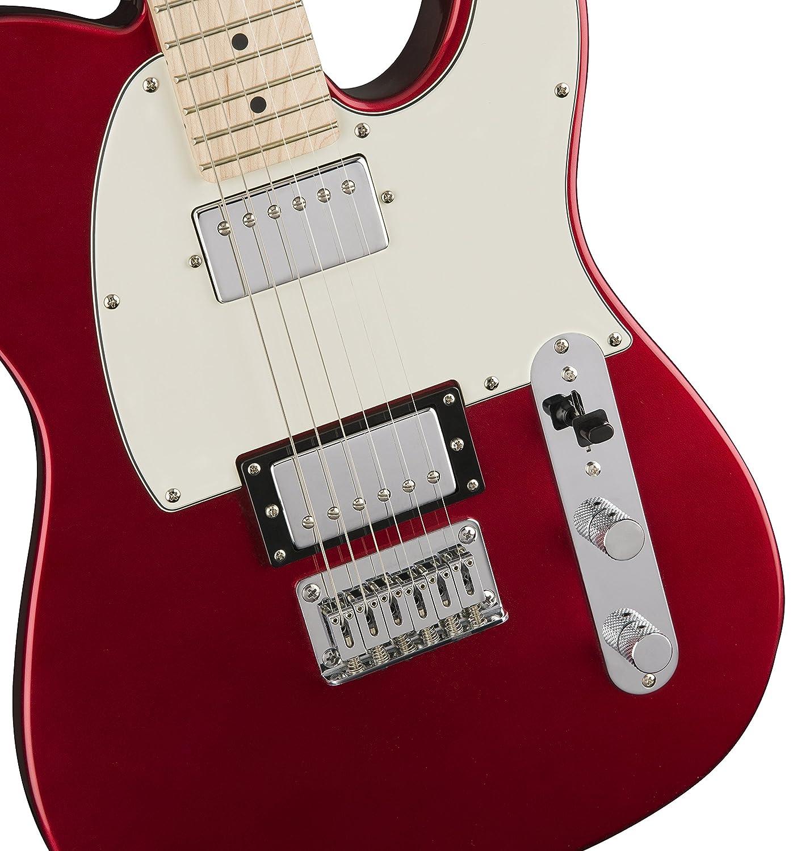 Squier por Fender Telecaster guitarra eléctrica - contemporáneo hh - arce diapasón, color rojo metálico: Amazon.es: Instrumentos musicales
