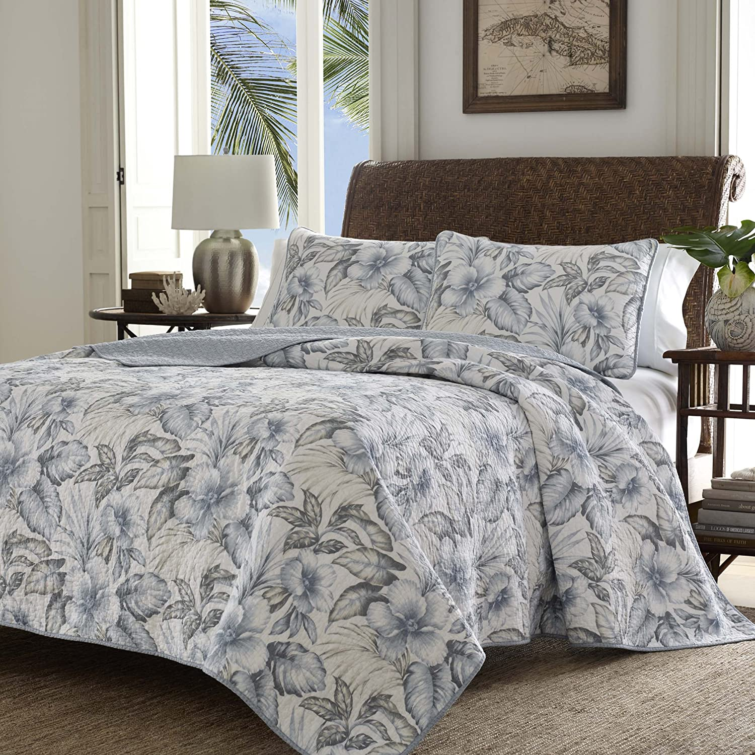 Tommy bahama bedding sets ease bedding with style tommy bahama 220111 casablanca garden casablanca reversible quilt setpelicans grayking gumiabroncs Gallery
