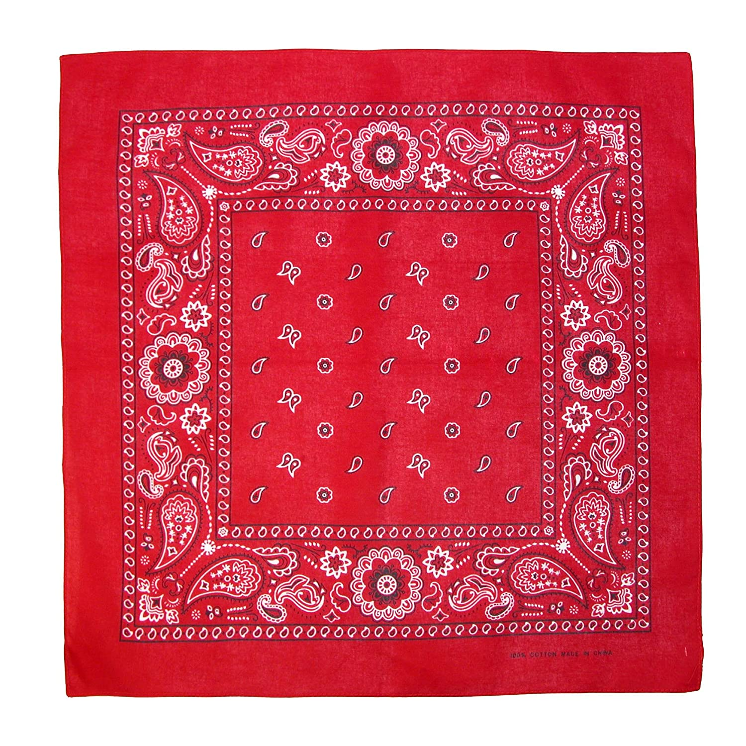 CTM® Cotton Paisley All-Purpose Bandana, Red JK-331-RED