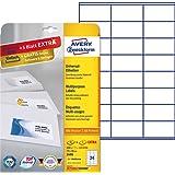 Avery Zweckform 3490 Adressetiketten (A4, 600 Plus 120 Etiketten extra, 70 x 36 mm) 30 Blatt, weiß