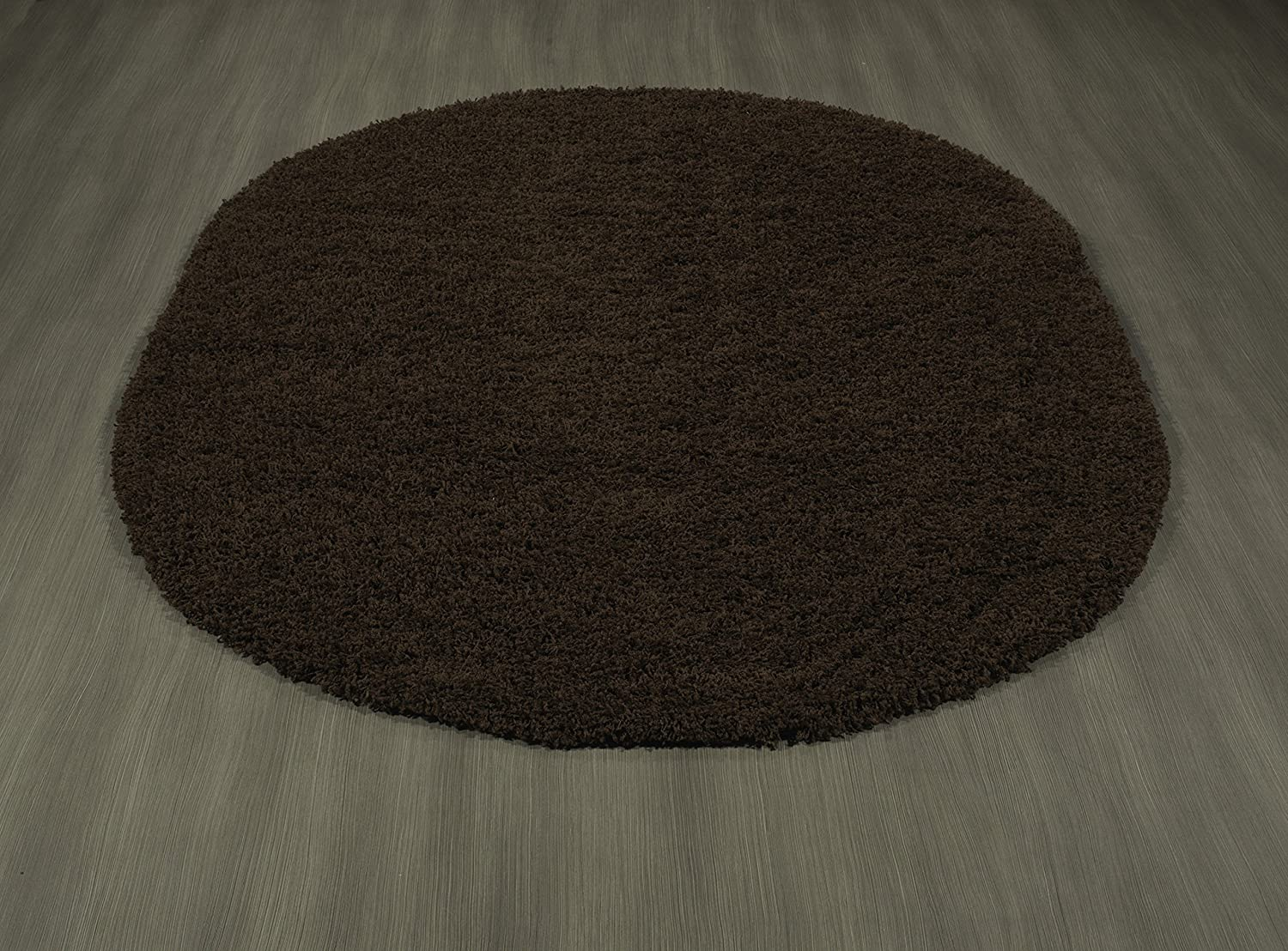 Sweet Home Stores Cozy Shag Collection Solid Shag Rug Contemporary Living /& Bedroom Soft Shaggy Area Rug Beige 39 L x 60 W