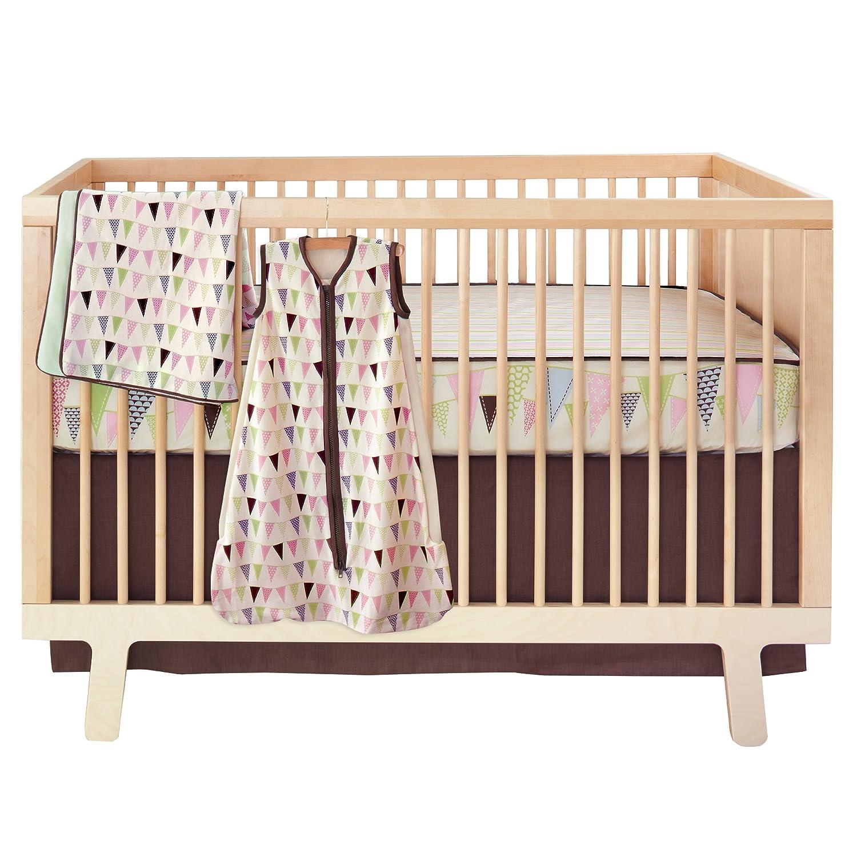 Skip Hop bumper-free Crib Bedding Set, 4-Piece (Pretty Pennant) 276523