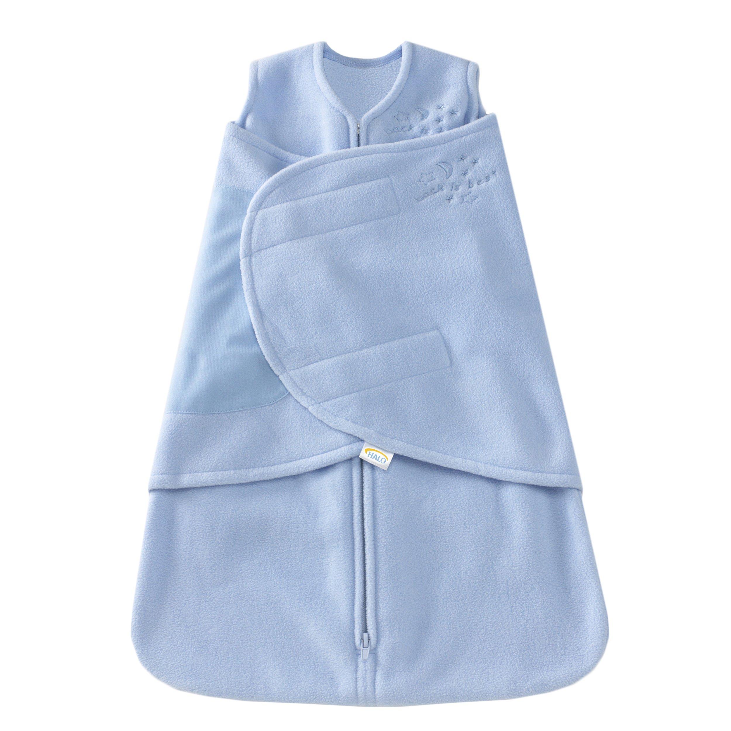 HALO SleepSack Micro-Fleece Swaddle, Baby Blue, Newborn by Halo