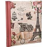 Arpan Pink Travel Album per foto, grande, stile vintage, motivo: gufo