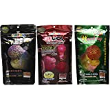 Set Of 3 Quick Red Mark , Head Up Huncher, Platinum Head Huncher And Color Faster Cichlid Flowerhorn Fish Food 3.5 oz (100g)