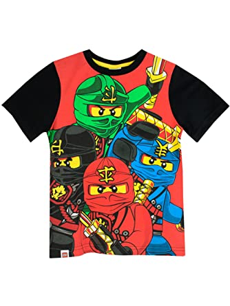 f0b80869 LEGO Boys Ninjago T-Shirt Ages 4 to 13 Years: Amazon.co.uk: Clothing