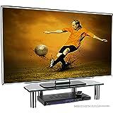 """RICOO Monitorständer Bildschirmständer TV Ständer Podest FS6026B Universal Standfuß Rack Fernsehständer LCD QLED QE 4K LED OLED IPS SUHD UHD 3D Curved/ 43cm/17"""" - 94cm/37"""" Zoll /Schwarz"""