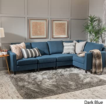 Amazon Com Christopher Knight Home Carolina Dark Blue Fabric