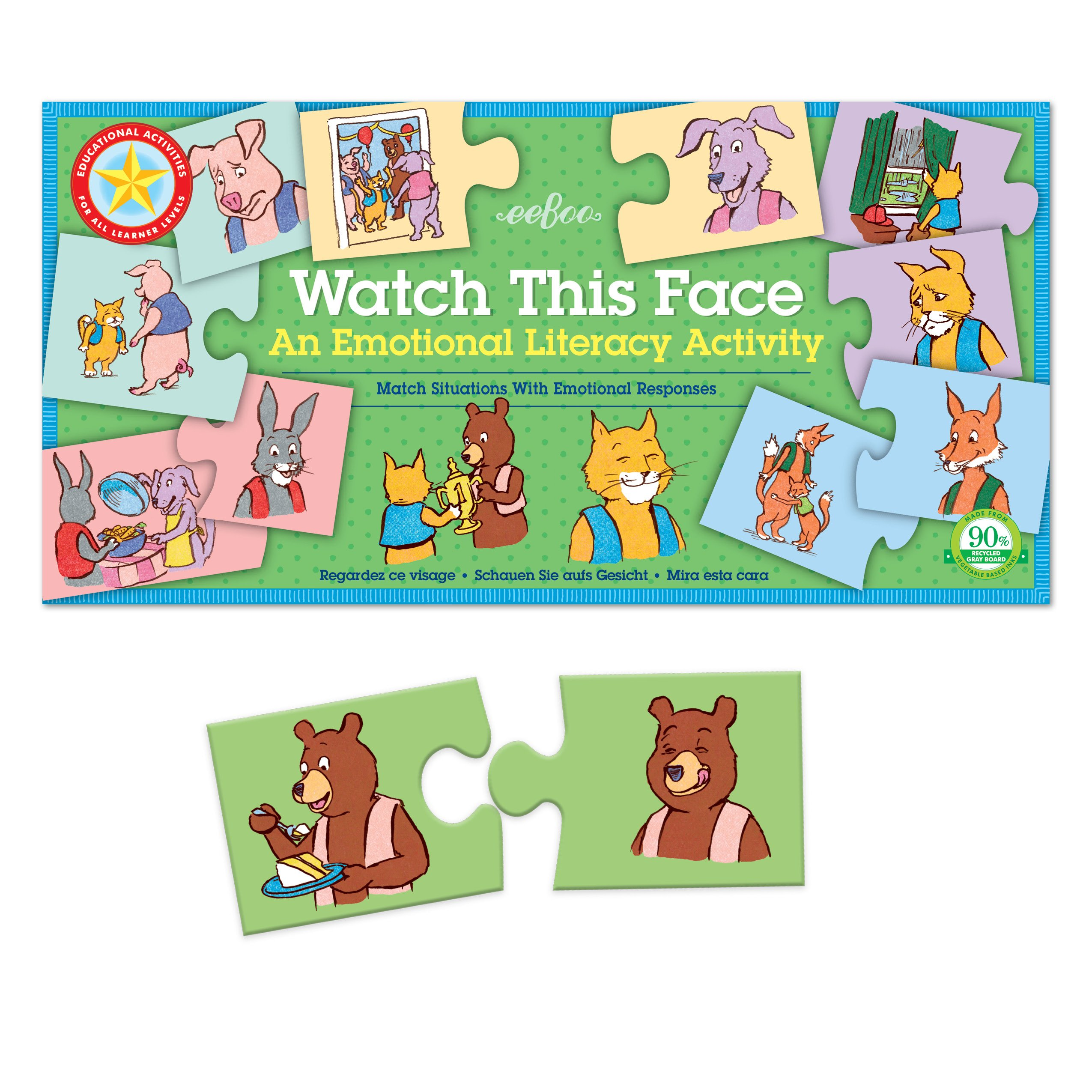 eeBoo Watch This Face, Emotions and Feelings Matching Game