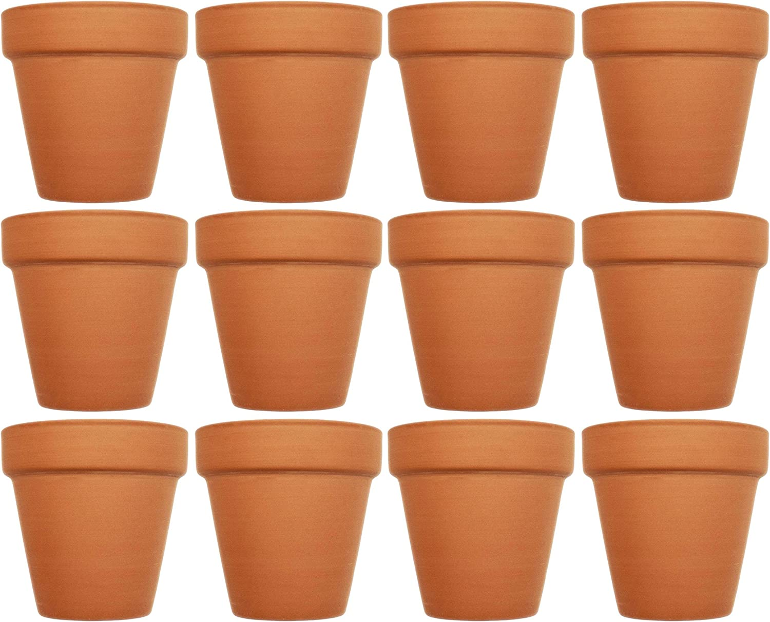 Set of 12 Terra Cotta Pots! Perfect for Vegetable or Flower Gardens! Measures - 3.75inx3.93in.d,x0.175in