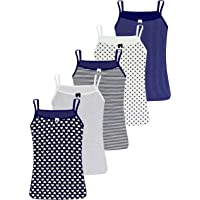 LOREZA ® 5 Camisetas de Tirantes Interiores para Niña Ropa Interior 2-15 años