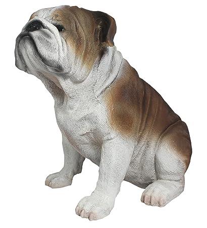 französische Bulldogge Figur H 42 cm lebensecht Deko Tierfigur NEU wetterfest