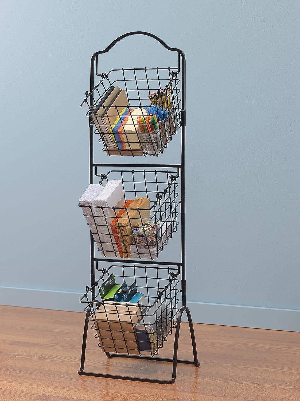 Mikasa Gourmet Wire 3-Tier Market Storage Basket, 1.2 m (4 ft ...