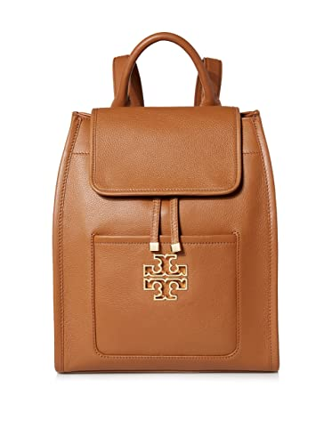 0e7153ddcae Amazon.com  Tory Burch Britten Leather Backpack - Bark  Shoes