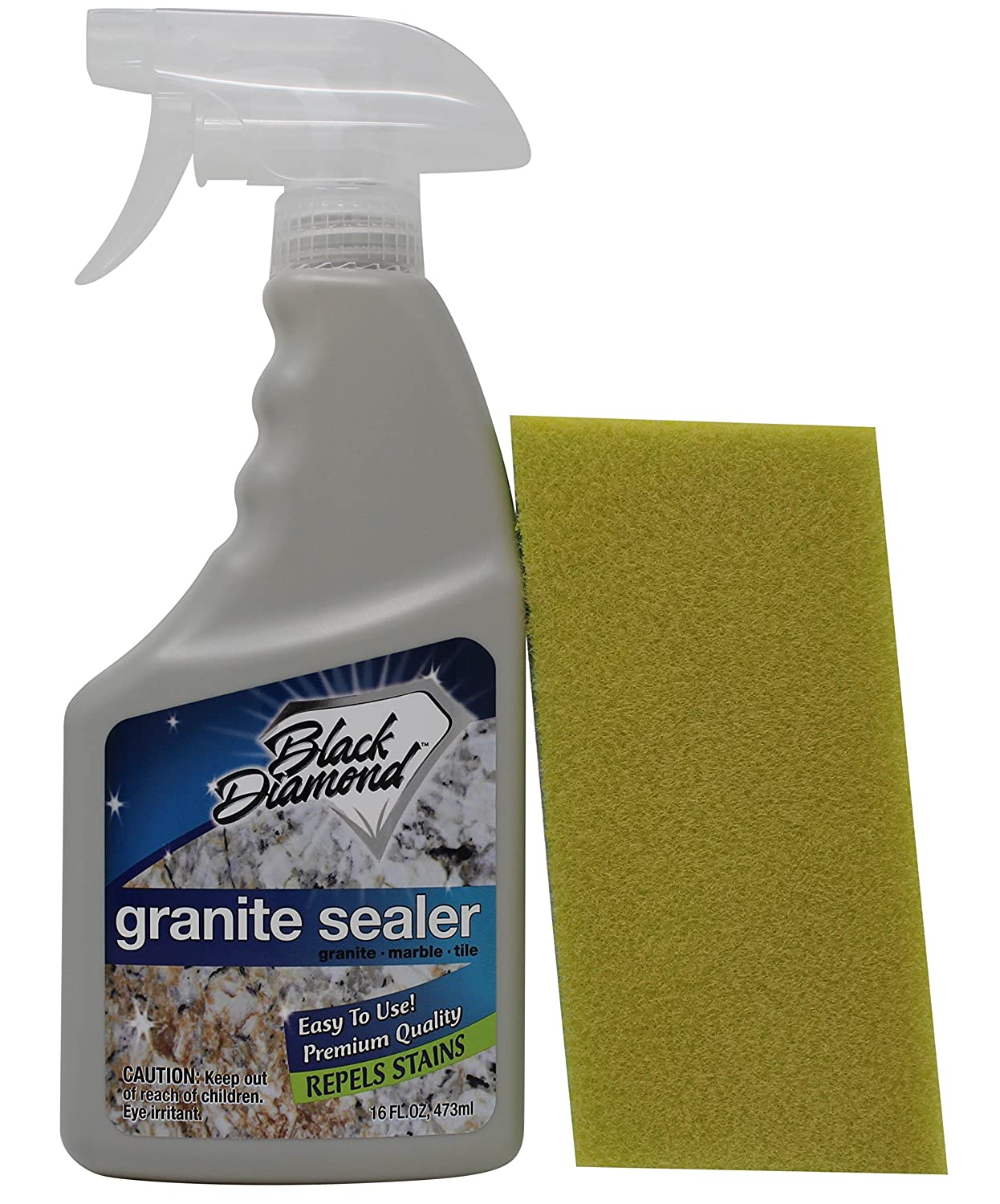 Granite Sealer: Seals and Protects, Granite, Marble, Travertine, Limestone and Concrete Counter Tops. Works Great On Grout, Fireplaces and Patios. 1-Pint/1-Applicator Pad