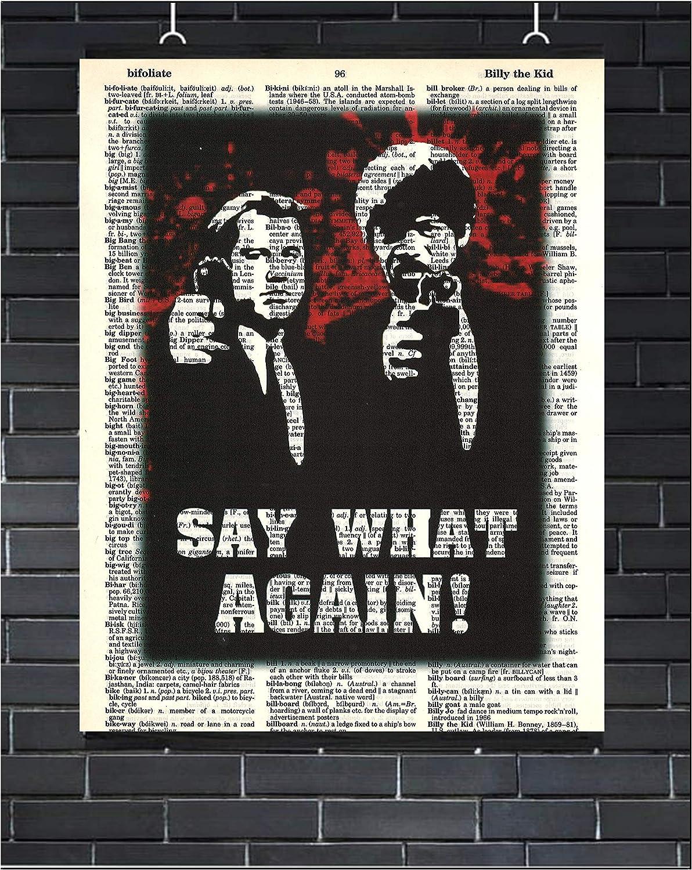 Pulp Fiction Movie Poster Pulp Fiction Wall Art Say What Again Quentin Tarantino Dictionary Art Print