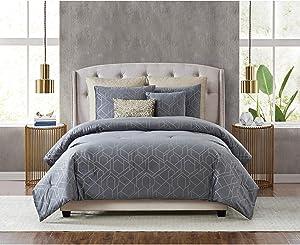 5th Avenue Lux Madison Luxury 7 Piece Comforter Set, Queen