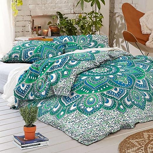 Black-White Doona Duvet Cover Indian Mandala Hippie Bedding Boho Quilt Cover Set