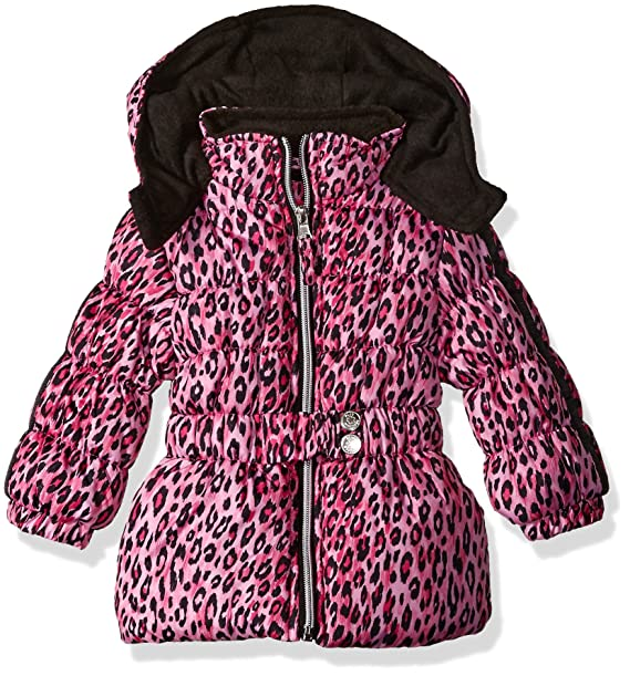1d3abbe0eb61 Amazon.com: Pink Platinum Baby Girls' Infant Cheetah Print Puffer Jacket:  Clothing