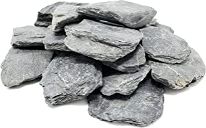 Capcouriers Small Slate Rocks - Flat Rocks - 4 Pounds of Slate Stones - Range Between 1 to 2 inches (Stones are Dusty)