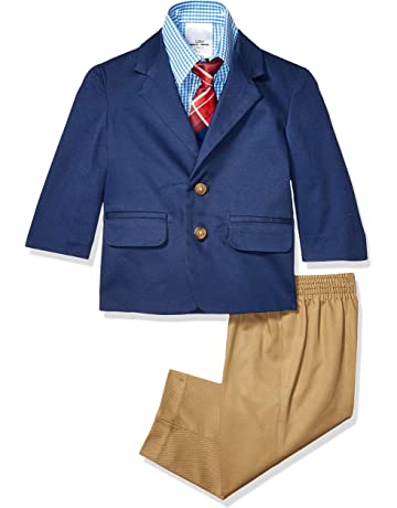 654f34588778 Nautica Baby Boys 4-Piece Suit Set with Dress Shirt, Jacket, Pants,