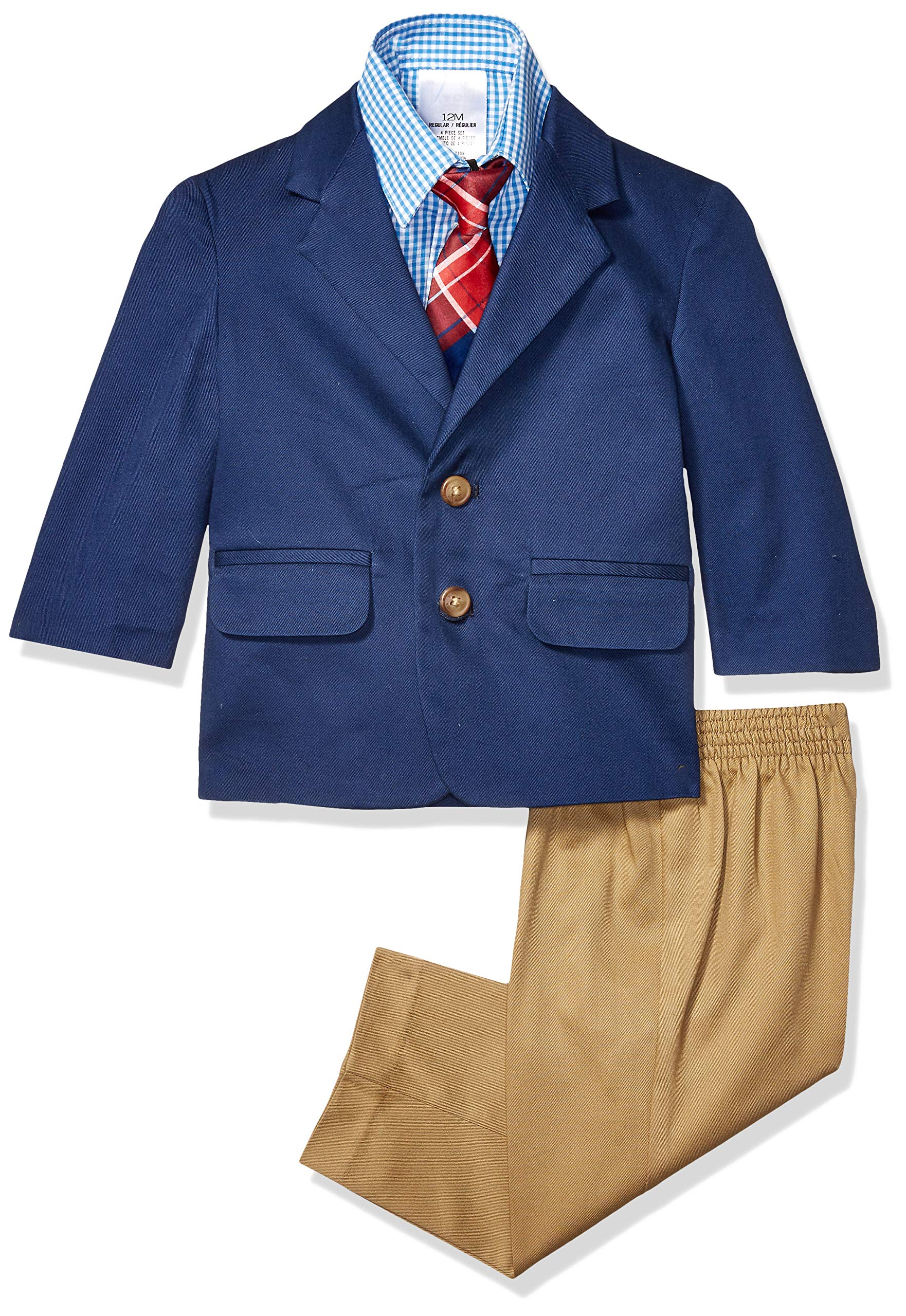 Pants Jacket Nautica Baby Boys 4-Piece Suit Set with Dress Shirt and Tie