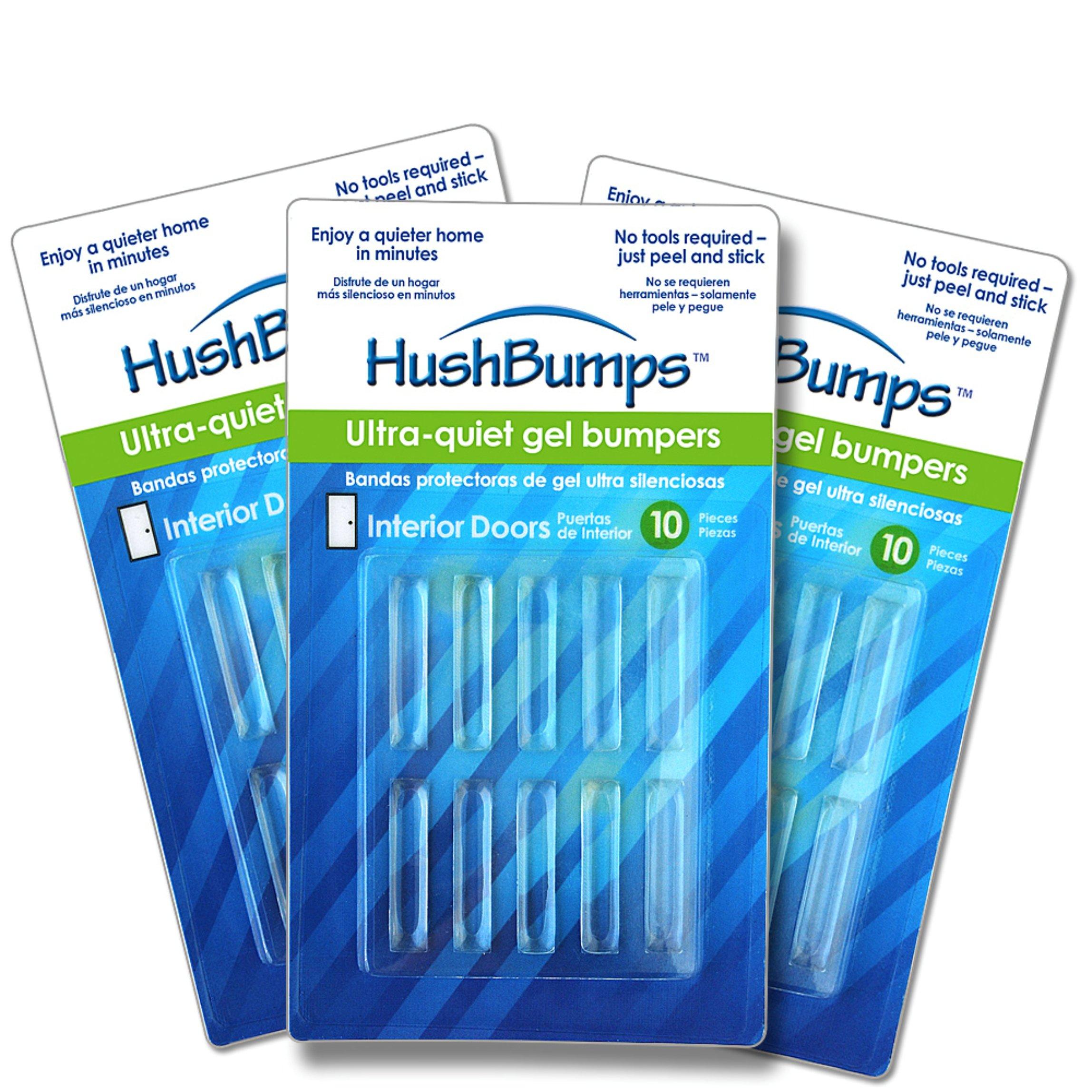 HushBumps Ultra-Quiet Bumpers for Interior Doors 3-PACK. Polymer Gel Provides Superior  sc 1 st  Amazon.com & Amazon.com: The Original Cushy Closer Door Cushion- Chandler Gray ...