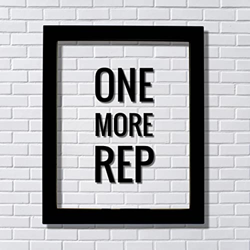 Amazon.com: ONE MORE REP - Floating Quote - Workout Gym Decor ...