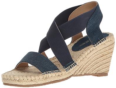 Adrienne Vittadini Footwear Womens Charlene Espadrille Wedge Blue Size 90