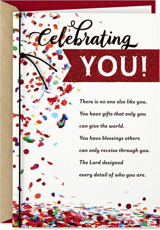 Celebrating You Hallmark Dayspring Religious Birthday Card