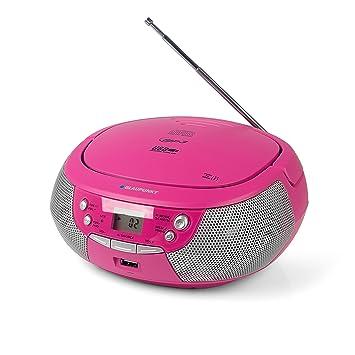 Blaupunkt B 4 PLL Boombox mit UKW PLL Radio | CD-Player | USB-Anschluss | AUX IN / MP3 | Stereo-Lautsprecher | Netz- und Batt
