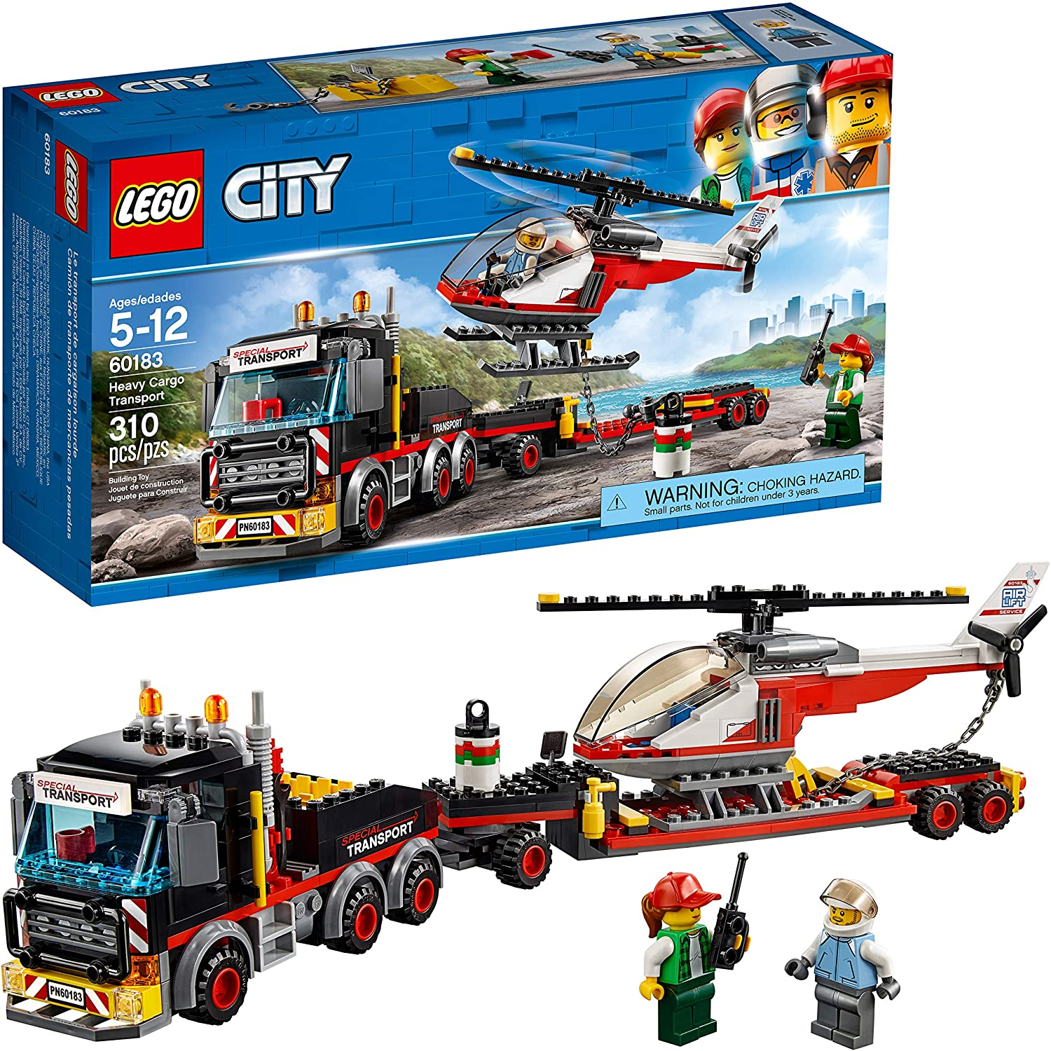LEGO City Heavy Cargo Transport 60183 Toy Truck Building Kit with Trailer