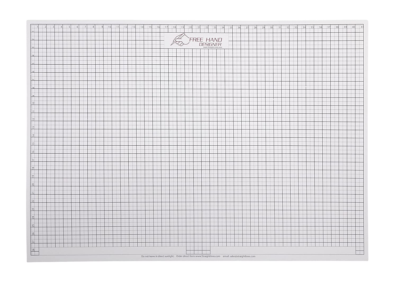 2 x A4 'Freehand Designer' Blatt. 1 x Gitterblatt & 1 x Winkelmesserblatt. Schablone für perfekte gerade Linien. Gitterblatt ermöglicht Maßzeichnungen zu erstellen. Winkelmesserblatt kann auch bei präzisen Kanten eingesetzt werden. StraightLines